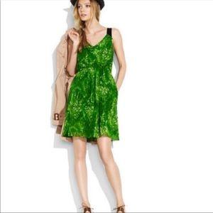 Broadway & Broome green silk dress